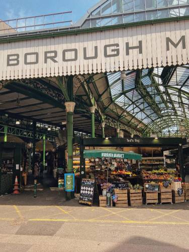 Borough Market in London from the exterior