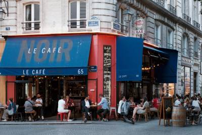 Le Café Noir exterior in Paris
