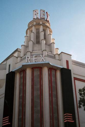 Exterior of Le Grand Rex Cinema in Paris