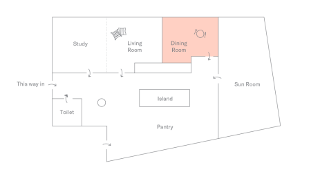 Floor plan of DTLA Apartment: Dining Room