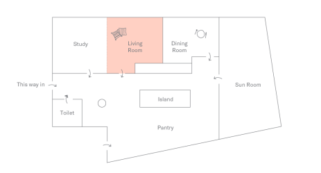 Floor plan of DTLA Apartment: Living Room