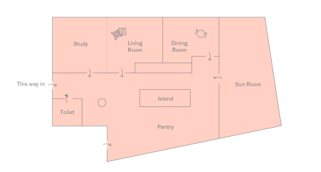 Floor plan of DTLA Apartment