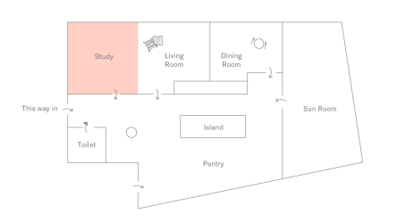 Floor plan of DTLA Apartment: Study