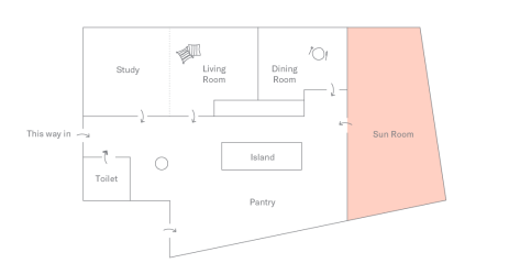 Floor plan of DTLA Apartment: Sunroom