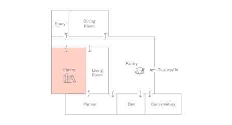 Floor Plan of Holborn Meetings Space - Library
