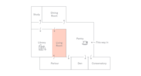 Floor Plan of Holborn Meetings Space - Living Room