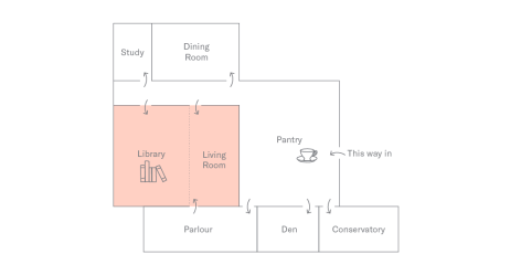 Floor Plan of Holborn Meetings Space - Library & Living Room