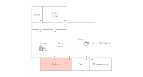 Floor Plan of Holborn Meetings Space - Parlour
