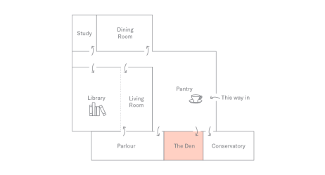 Floor Plan of Holborn Meetings Space - The Den