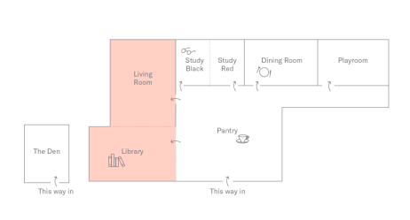Living Rom + Library Plan