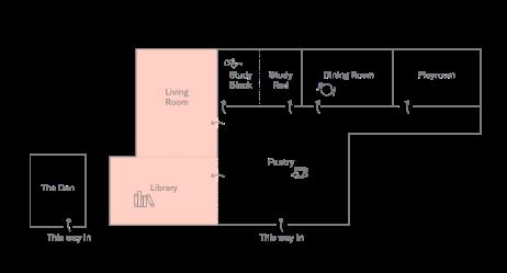 Living Rom + Library Plan