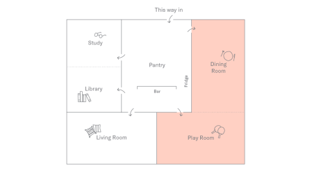 Play Room + Dining Room Plan