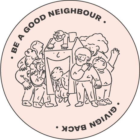 Be a good neighbour - Giving Back - Sticker